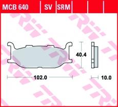 Bremsbelag MCB640