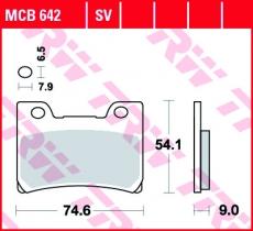 Bremsbelag MCB642