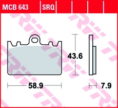 Bremsbelag MCB643