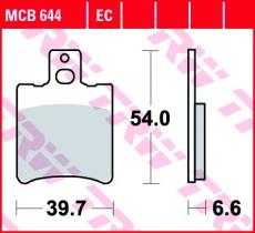 Bremsbelag MCB644