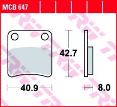 Bremsbelag MCB647