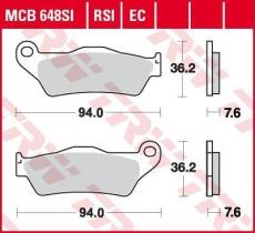 Bremsbelag MCB648RSI