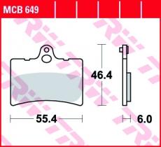 Bremsbelag MCB649