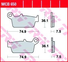 Bremsbelag MCB650