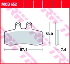 Bremsbelag MCB652