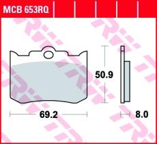 Bremsbelag MCB653RQ