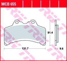 Bremsbelag MCB655