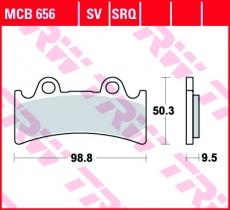 Bremsbelag MCB656
