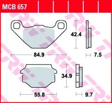 Bremsbelag MCB657