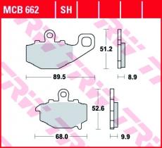 Bremsbelag MCB662