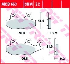 Bremsbelag MCB663