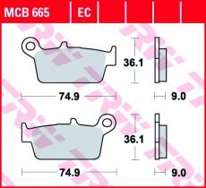 Bremsbelag MCB665