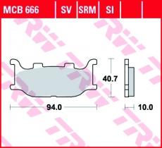 Bremsbelag MCB666