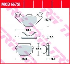 Bremsbelag MCB667SI