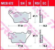 Bremsbelag MCB672