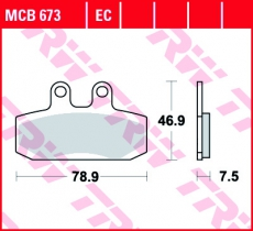 Bremsbelag MCB673