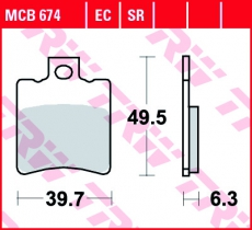 Bremsbelag MCB674