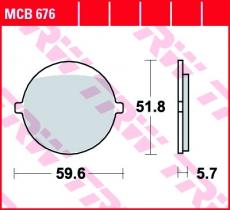 Bremsbelag MCB676