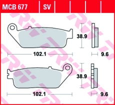 Bremsbelag MCB677