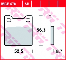 Bremsbelag MCB678