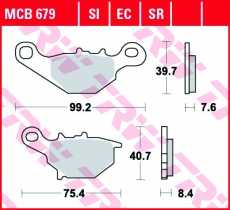 Bremsbelag MCB679