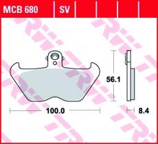 Bremsbelag MCB680