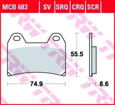 Bremsbelag MCB683