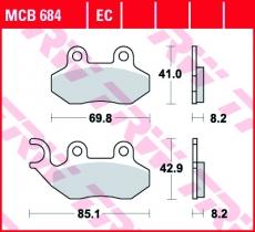 Bremsbelag MCB684