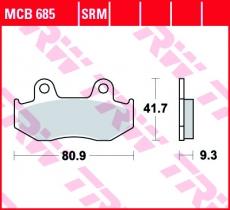 Bremsbelag MCB685