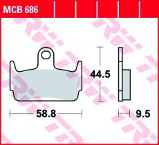 Bremsbelag MCB686