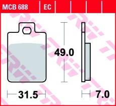 Bremsbelag MCB688