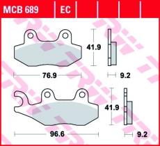 Bremsbelag MCB689