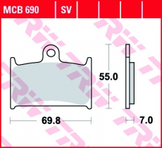 Bremsbelag MCB690