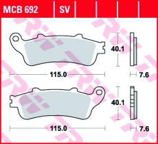 Bremsbelag MCB692
