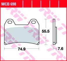 Bremsbelag MCB698