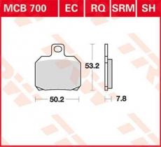 Bremsbelag MCB700SH