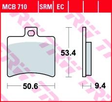 Bremsbelag MCB710