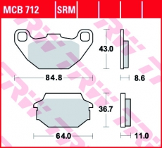 Bremsbelag MCB712