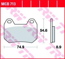 Bremsbelag MCB713