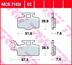 Bremsbelag MCB714SI