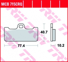 Bremsbelag MCB715CRQ