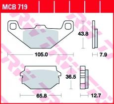 Bremsbelag MCB719