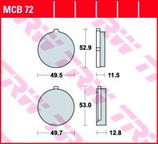Bremsbelag MCB72