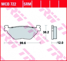 Bremsbelag MCB722