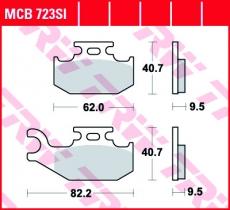 Bremsbelag MCB723SI