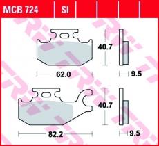 Bremsbelag MCB724