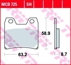 Bremsbelag MCB725