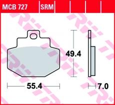 Bremsbelag MCB727