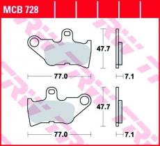 Bremsbelag MCB728