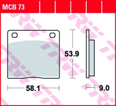 Bremsbelag MCB73